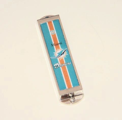 Mezuzah Case Dolphins Metal Enamel - Made In Israel - Scroll Sold Separately