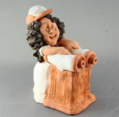 Figure Bat Mitzvah Ceramic, Hand Made in Israel