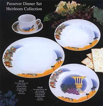 Passover Dinner Set For 8 (40 pieces) - Dinner/Soup/Salad/Cups And Saucers - Beautiful Set