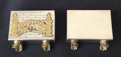 Match Box 'Lichbot Shabbat' Sterling Silver - Size: 2 Inches Wide - Made In Israel