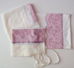 Talit/Bag Sheer Poly Pink 18 Inches X 72 Inches - Made In Israel By Eretz Judaica