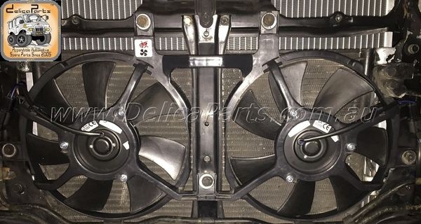 Twin Electric Fan (Condenser Fan Assembly) for L-400, 4x4