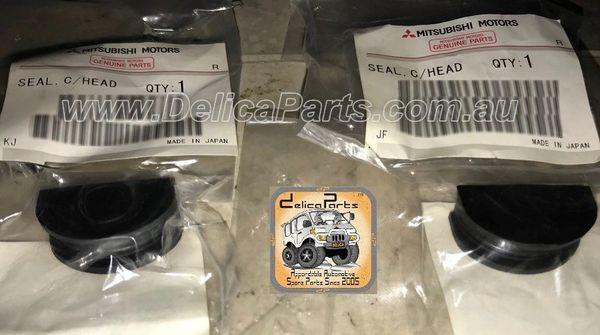 Rocker Cover Half Moon Seal (Camshaft Seal), SET, Genuine Mitsubishi, 4M40, 4x4