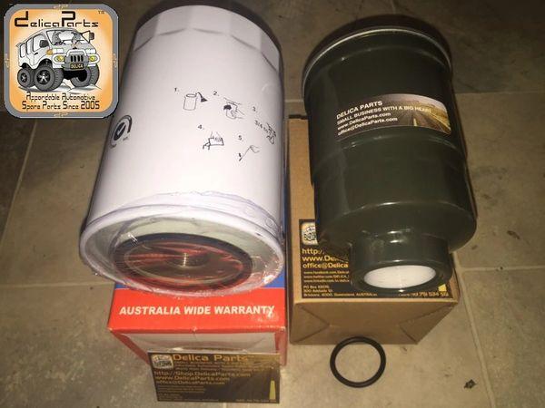 COMBO DEAL, C-2 (Oil Filter & Fuel Filter for 4M40, 2.8 L Diesel Delica)