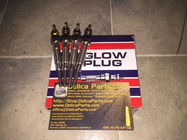 Glow Plugs (SET of four) for 2.8L Diesel / Turbo Diesel Delica 4M40