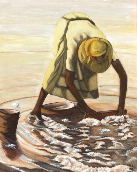 Harvesting Salt SOLD