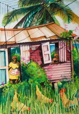 Belize House 2 - Yellow Dress