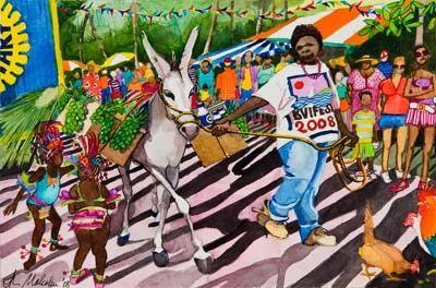 Festival with Donkey