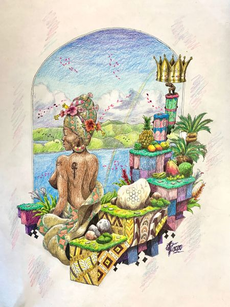 """Fruit of Life"" Original Drawing by Walden Benjamin"