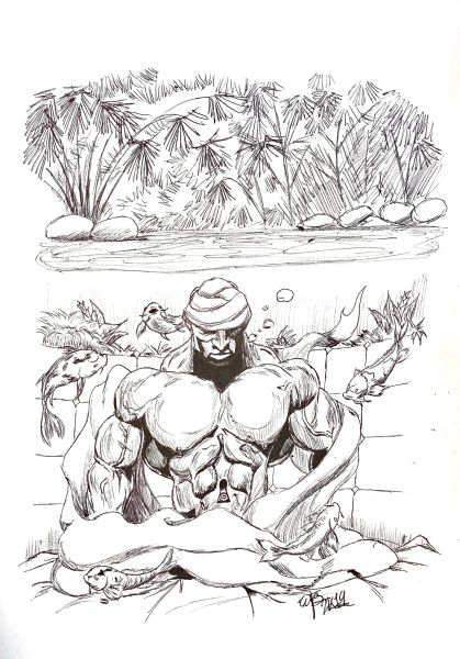 """Reminiscent"" Original Drawing by Walden Benjamin"