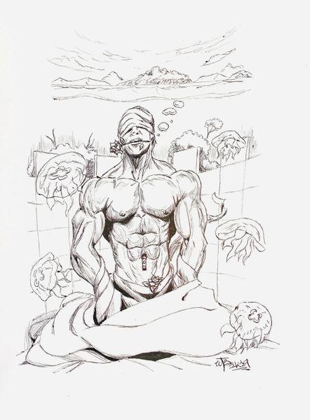"""Wonder"" Original Drawing by Walden Benjamin"
