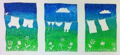 Blue Skies Triptych