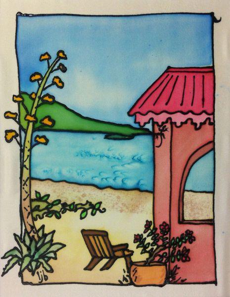 Beach House with Century Plant