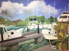 Boats at Dock, Tortola