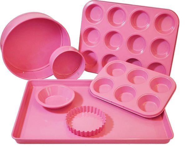 PINK BAKING PANS