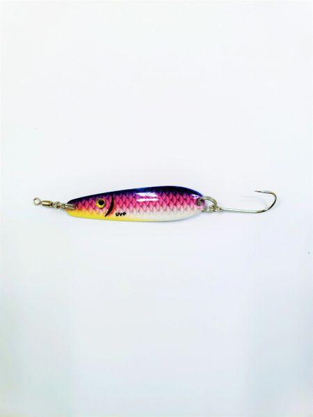 "1504-2121 McOmie's 2 3/8"" Trout/Kokanee Spoon Vibrant UV ""Purple Shiner"""