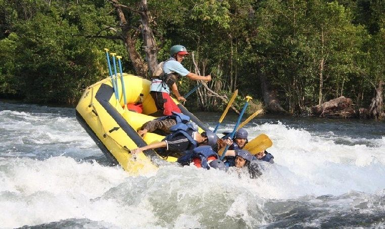 Government Dandeli river Rafting is done under Dandeli Kali Adventure Jungle lodges Govt.