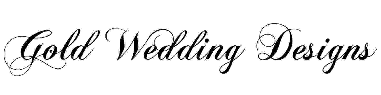 Gold Wedding Designs