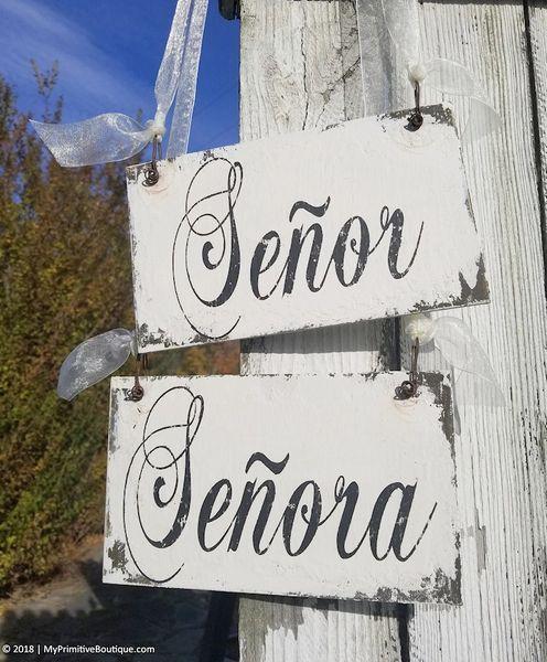 Rustic Wedding Signs.Senor And Senora Rustic Wedding Signs Spanish Wedding Decor Ch 37