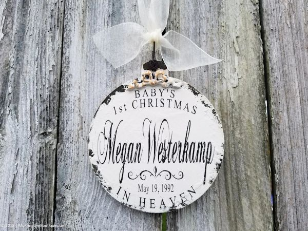 Christmas In Heaven.Babys First Christmas In Heaven Ornament Personalized Christmas Ornament 1st Christmas In Heaven In Loving Memory Ornament Sympathy Gift
