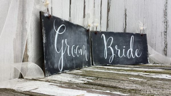 Chalkboard Wedding Signs.Bride And Groom Chair Signs Rustic Wedding Chalkboard Signs Ch 15