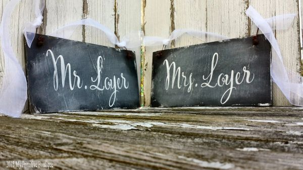 Chalkboard Wedding Signs.Personalized Mr And Mrs Signs Rustic Chalkboard Wedding Signs Ch 23