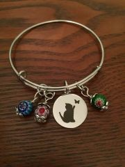 Roxie's Place Fundraiser Whimsical Cat Bangle