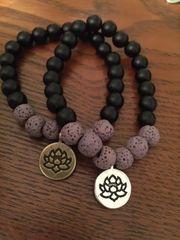 Lotus Flower Diffuser Bracelets