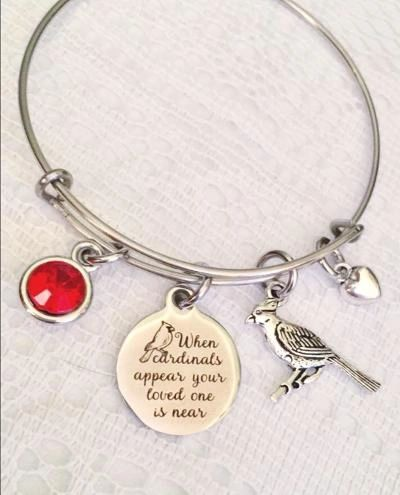 When Cardinals Appear Bangle