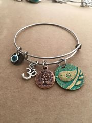 Bohemian Bird and Tree of Life Bangle
