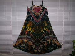 Ribbon Strap Earth Tone/ Black Super Vee Heart Dress