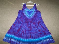 Purple Heart short wide strap Dress