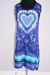 Purple Heart Long wide strap Dress