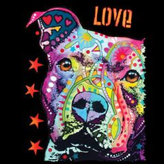 Thoughtful Pitbull - Neon - T-shirt