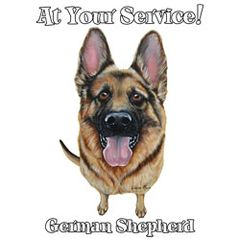 At Your Service - German Shepard -T-shirt