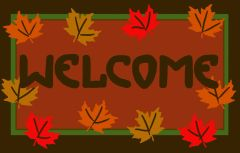 Autumn Welcome Jellybean Rug