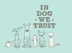 In Dog We Trust T-shirt (Unisex XL only)