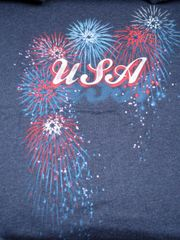 USA Fireworks Ladies Navy T-shirt
