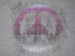 Peace in a Purple Haze Ladies T-shirt