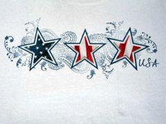 Stars and Stripes USA - White Ladies T-shirt