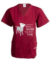Fun and Games Unisex Scrub Top (XXL only)