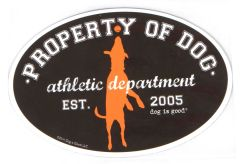 Property of Dog - Oval Magnet
