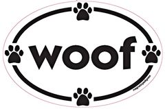 Woof - Oval Magnet