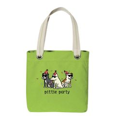 Pittie Party Canvas Tote Bag