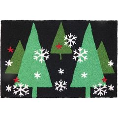 Christmas Trees at Night Jellybean Holiday Rug