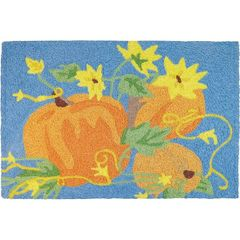 Pumpkins and Sunflowers Jellybean Rug
