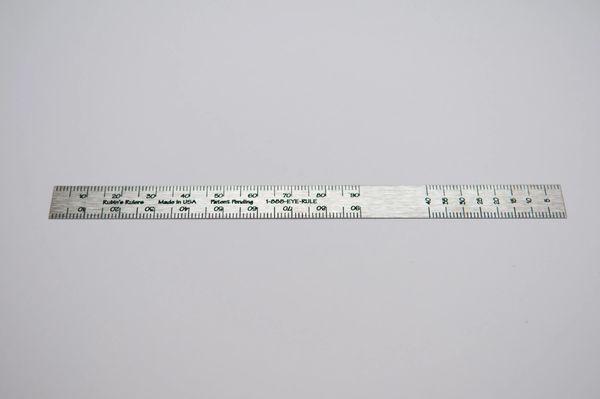 Rubin's Ruler Stainless Steel Bottom Scale 3 pack