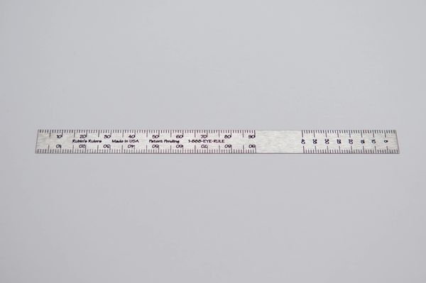 Rubin's Ruler Stainless Steel Top Scale 3 pack