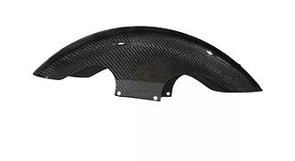 "2014 & Later 19"" Shorty Wrapped Carbon Fiber Front Fender"
