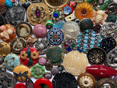 Antique Buttons Vintage Buttons